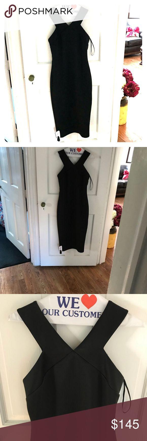 Ted baker formal black dress! NWT Gold zipper down the back! Very elegant Ted Baker Dresses