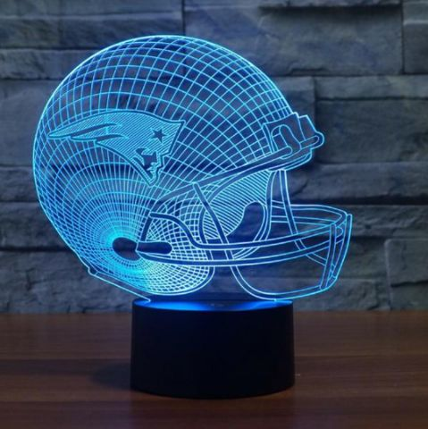 NFL NEW ENGLAND PATRIOTS 3D LED LIGHT LAMP