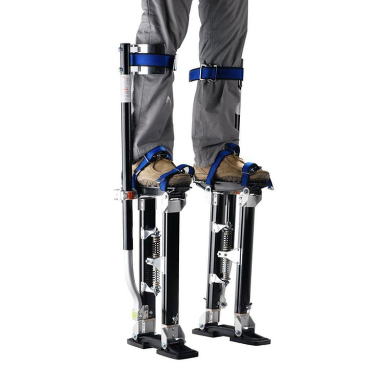 Pentagon Tool 18 in. to 30 in. Adjustable Height Black Drywall Stilts-1116 - The…