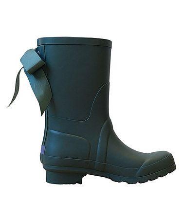 Look what I found on #zulily! Duck Green Ribbon Short Rain Boot #zulilyfinds