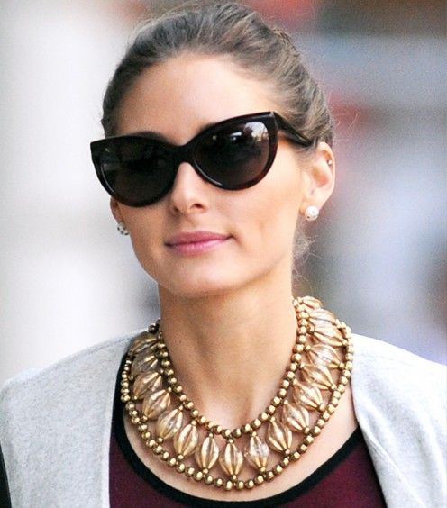 It's the small details that add up to one impressive whole. Olivia Palermo wearing Tom Ford Sunglasses