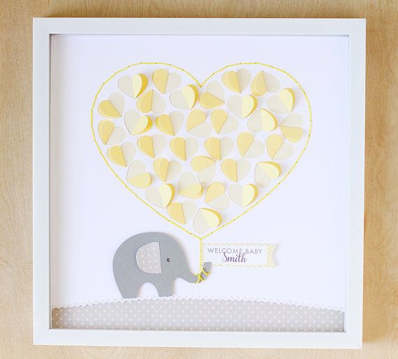 Gender Neutral Baby Shower Guest Book by LittleSproutPaperie