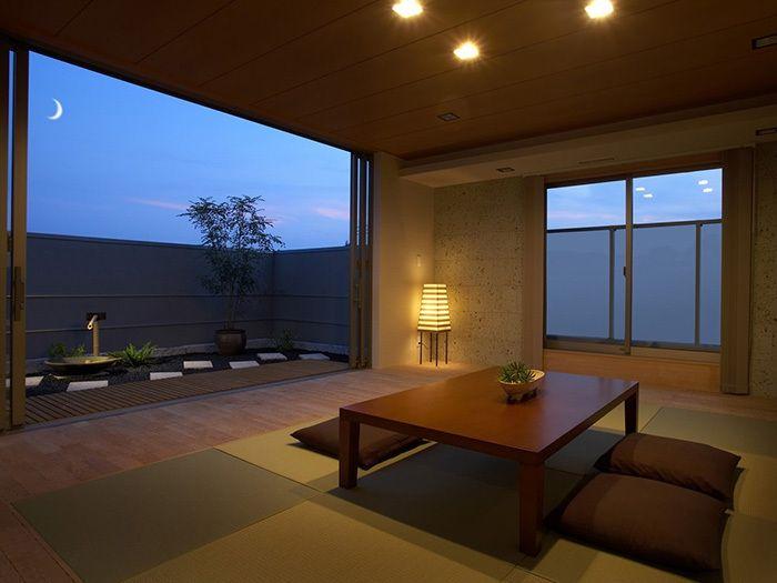 バルコニーの坪庭とつながる和室 イメージ