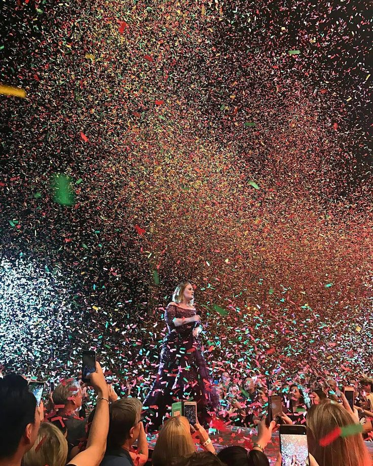 """Adelettes©® (@adelettes) on Instagram: """"Majestic really! Photo by Lujia Pang @lulu830325  Adele @Adele colored confetti goes into the…"""""""