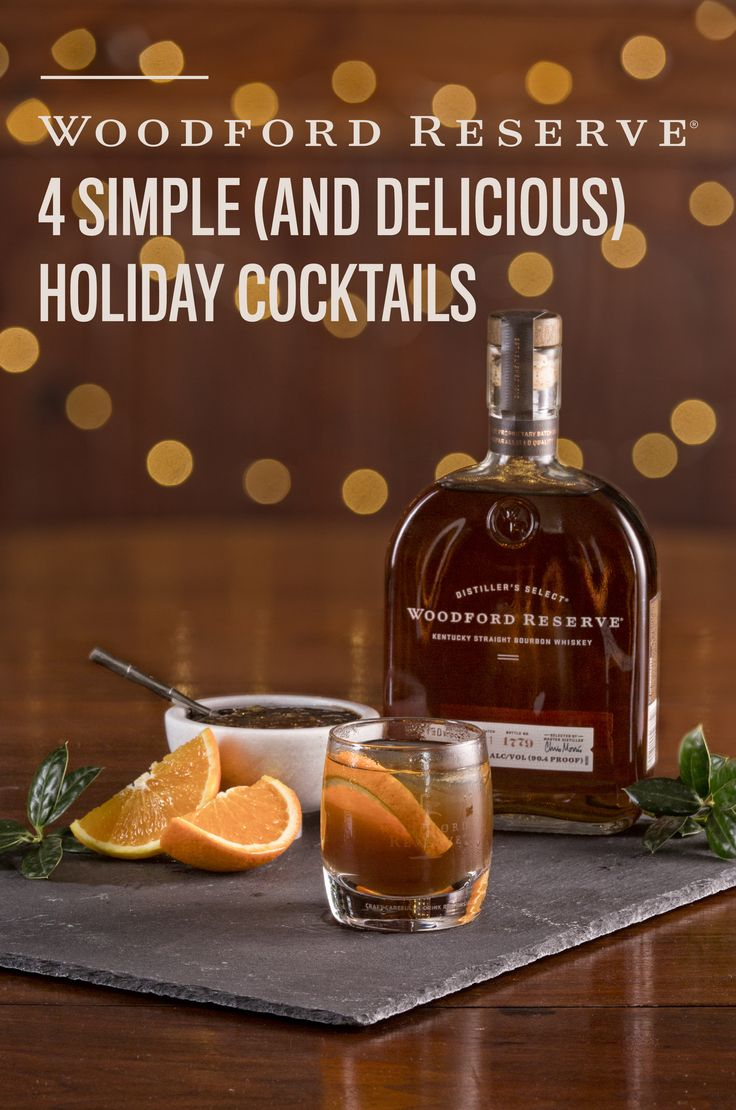 Delicious, easy, crowd- pleasing Woodford Reserve Bourbon Cocktails. WOODFORD RESERVE SORGHUM OLD FASHIONED,  2 ounces sorghum simple syrup, 2 ounces Woodford Reserve, 6 dashes of bitters, 1 orange slice, Muddle orange slice and bitters in bottom of glass. Add syrup, Woodford and ice. Garnish with a cinnamon stick. WOODFORD RESERVE MOONBOW, 2 ounces of Woodford Reserve, 1 tablespoon simple syrup, 1 tablespoon fresh orange juice, 1 tablespoon fresh lime juice, 2 oz ginger-ale, 1 ounce…