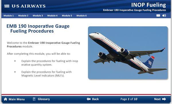 US Airways Interactive eLearning by Derek Kalinosky, via Behance