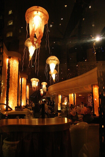 Farallon in San Francisco.  A seafood restaurant near Union Square.  The décor of the restaurant is almost as appealing as the food.  This place will blow your doors off!!