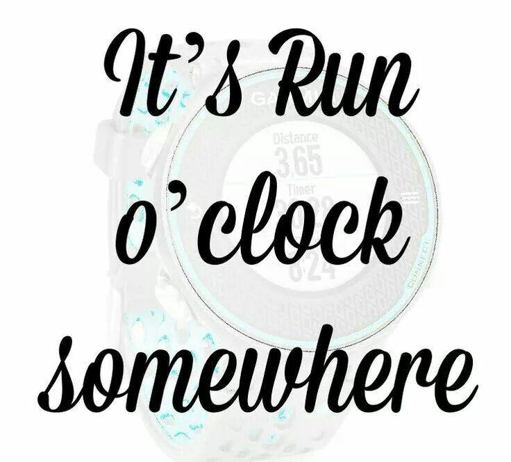 It's run o 'clock