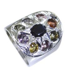 bonny Tourmaline Silver Multi Ring suppiler L-1in US 5678