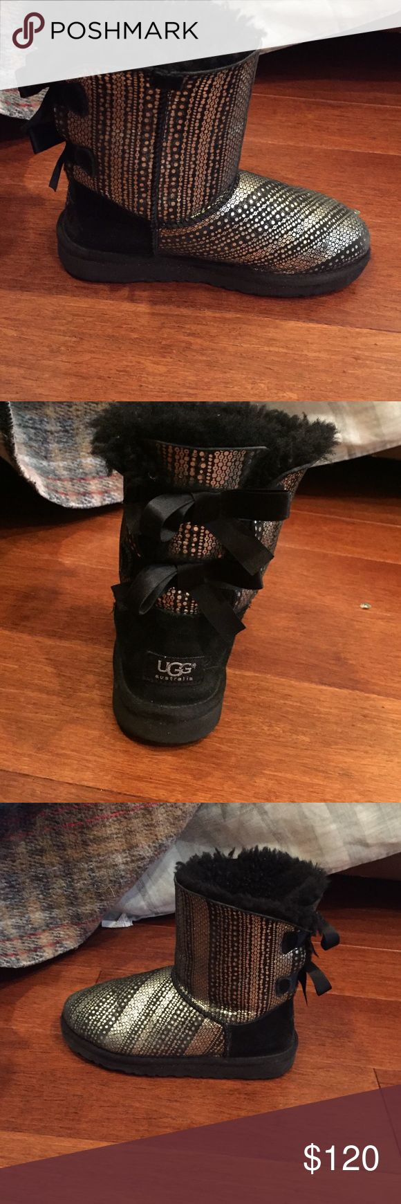 Authentic Girls Ugg Boots - Size 3 - 2 Pairs Girls Ugg Boots Size 3 in great shape! I have twins, so I have 2 identical pair! UGG Shoes Winter & Rain Boots
