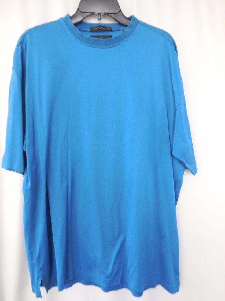 Bugatchi aqua mens t-shirt Short Sleeves retail 69.50 Size Large Cotton #BugatchiUomo #BasicTee