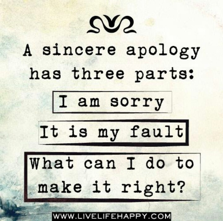 how to say sorry for saying something mean