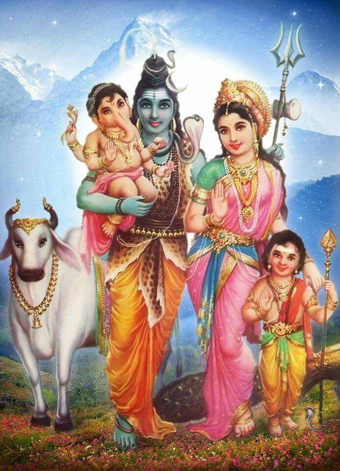 Shiva y familia.