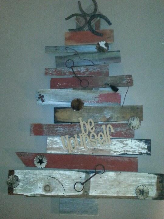 Barn board christmas tree my creations pinterest