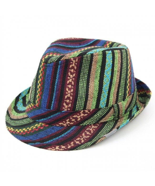 LOUDelephant Colourful pattern trilby hat - Green