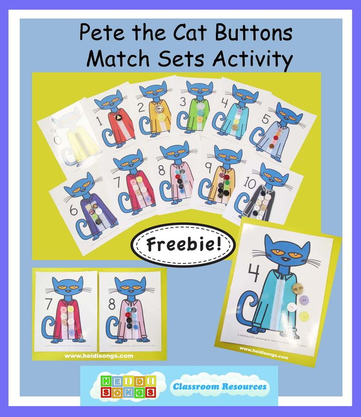 """ShareTweetToday I am excited to share a brand new Pete the Cat Match Sets freebie, and also to tell you about my newest book in the Wiggles series, """"Wiggles' First Day of School."""" We have been working hard all … Continue reading →"""