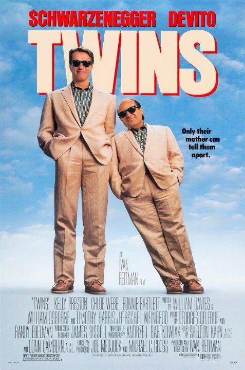 Arnold Schwarzenegger and Danny DeVito in Twins (1988)