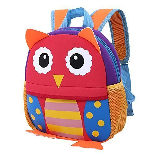 Baby Cute Owl Bag Toddler Preschool Backpack Compact School Books Lunch Travel  #IGBBLOVE