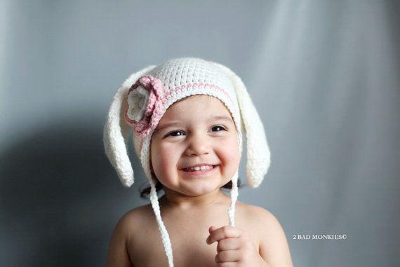 Bunny Hat Baby   Newborn Bunny Hat  Infant Bunny by 2badmonkies, $42.00