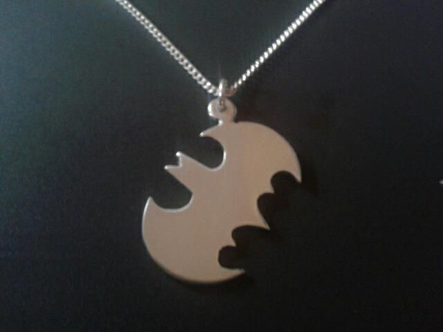 sterling silver batman profile pendant 25mm x 20mm, £14.99