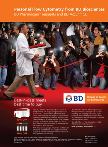 Personal Flow Cytometry from BD Biosciences via genengnews.com