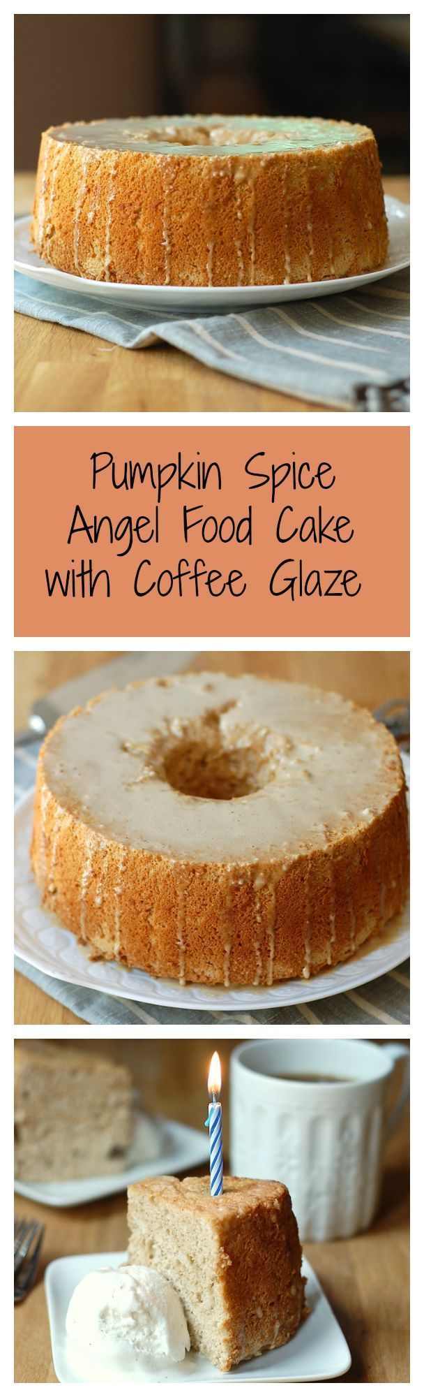 pumpkin spice angel food cake