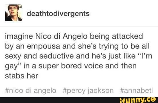 pjo, hoo, percyjackson, nicodiangelo, tumblr