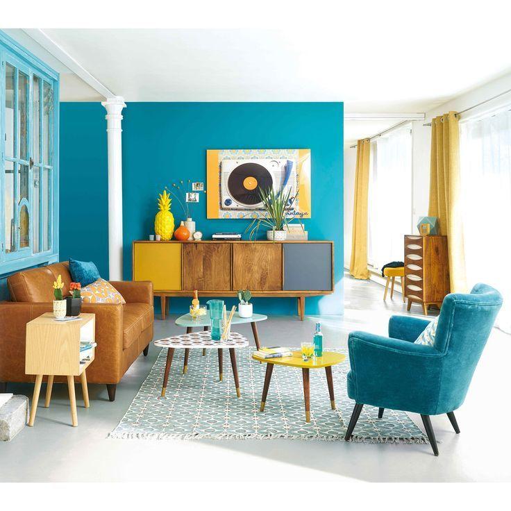 Anrichte Im Vintage Stil Aus Mangoholz Retro Living Rooms Colourful Living Room Decor Vintage Living Room