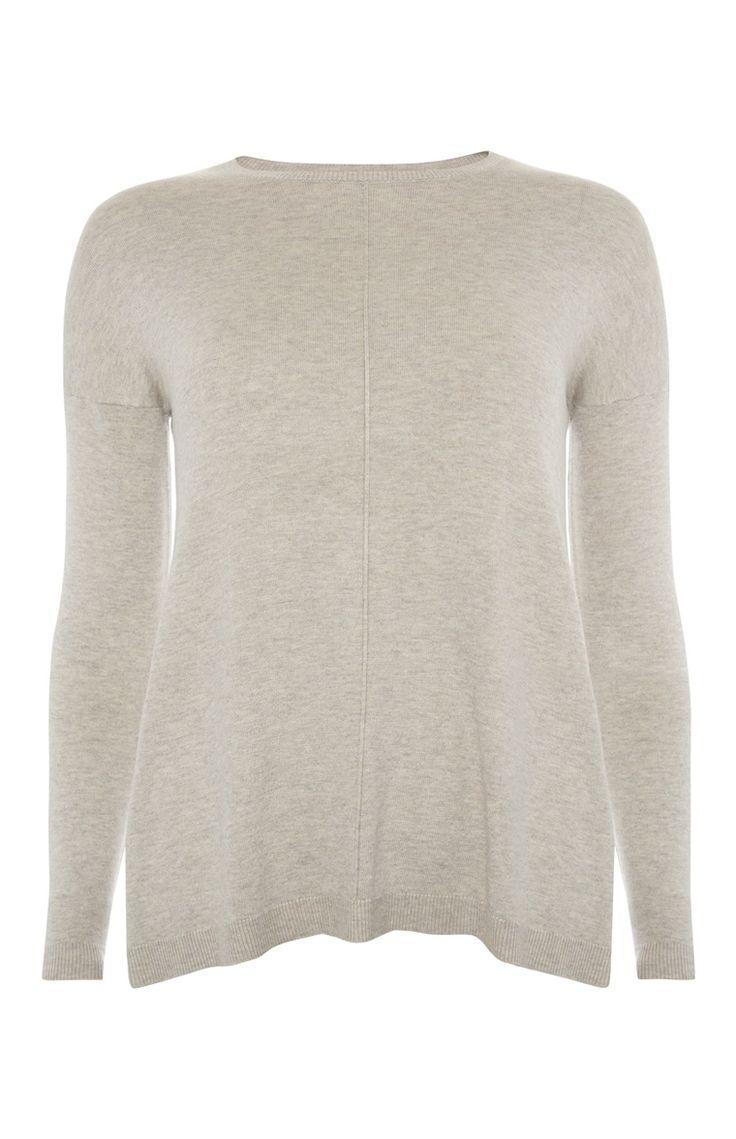 Primark - Beige trui met stiknaad voor