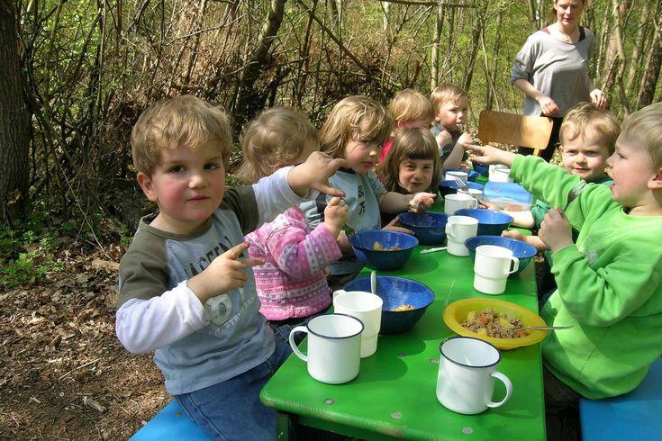 Having lunch in the forest kindergarten.jpg 2,592×1,728 pixels