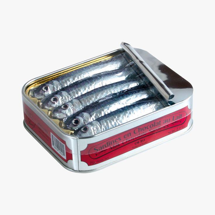 Boîte de sardines en chocolat au lait - Michel Cluizel - Find this product on Bon Marché website - La Grande Epicerie de Paris