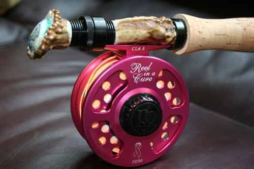 Custom fly rod & reel for breast cancer.. Awsome