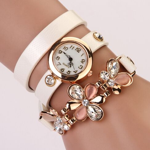 Cheap XR292, Buy Directly from China Suppliers:PL127 2014 New women vintage leather strap watches,set auger angel wings rivet bracelet women dress watch wristwatch HOT