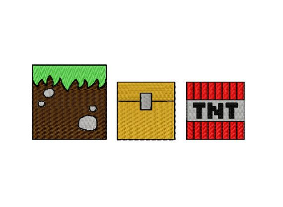 Minecraft Machine Embroidery Designs