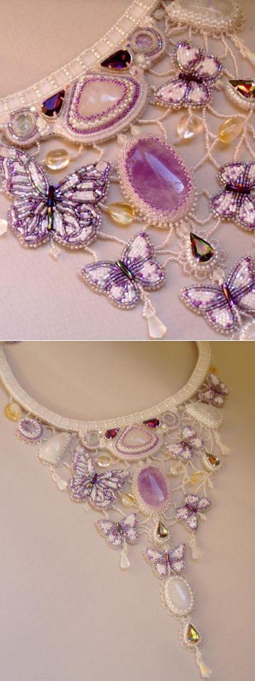 Вальс лунных бабочек | biser.info - всё о бисере и бисерном творчестве | Бисерные чудеса | Постила    postila.ru