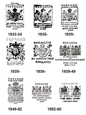 paragon china backstamps - Google Search