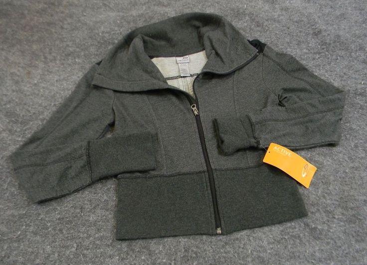 C9 by Champion Dark Grey Crop Zip-Up Sweatshirt Cardio Jacket XS Athletic Gear #C9byChampion #CoatsJackets