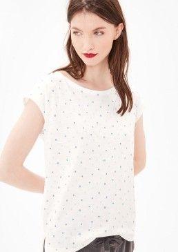 Melírované tričko se vzorkem, s.Oliver #avendro #avendrocz #avendro_cz #fashion #soliver
