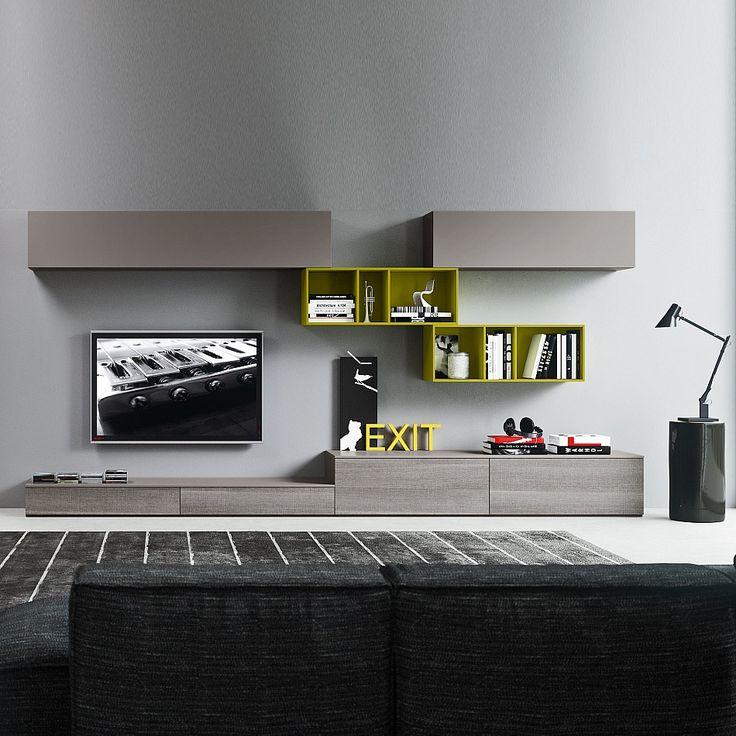 TV-unit compozition-10 by Siluetto. #livingroomfurniture #homeinterior #Italiandesign #contemporaryfurniture