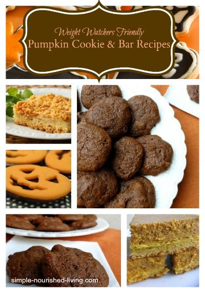 11 Healthy Low Fat Pumpkin Cookie and Bar Recipes with Weight Watchers Points Plus #weightwatchers #pumpkin #cookies