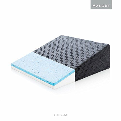Z Gelinfused Memory Foam Wedge Pillow Therapeutic Bed