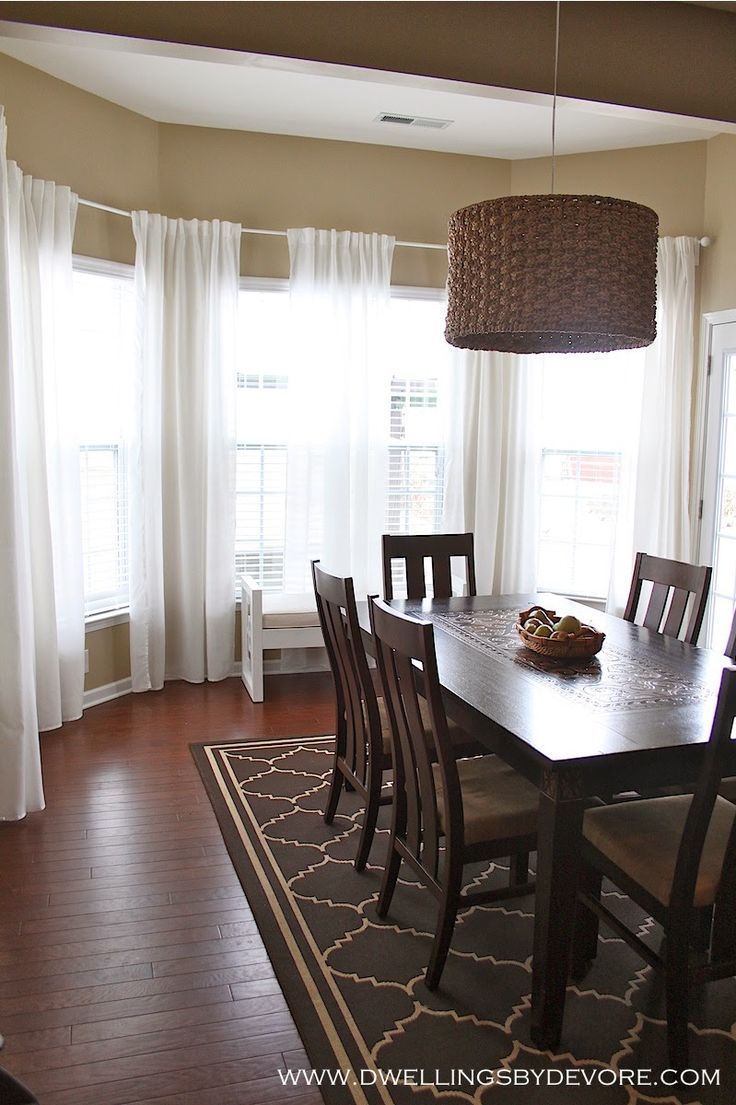 25 best ideas about bay window blinds on pinterest bay - Curtains for bay windows in living room ...