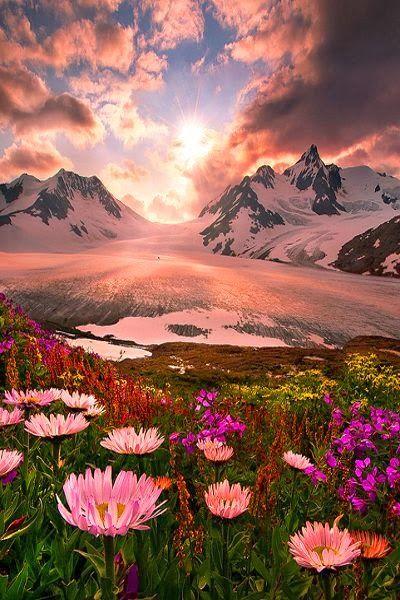 Sunset, Boundry Range, Alaska
