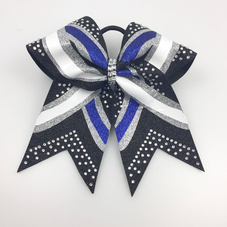 A personal favorite from my Etsy shop https://www.etsy.com/listing/466947264/blue-glitter-cheer-bow-cheer-bows-blue