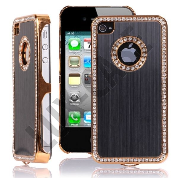 Jewel Golden Edge (Svart) iPhone 4/4S Deksel