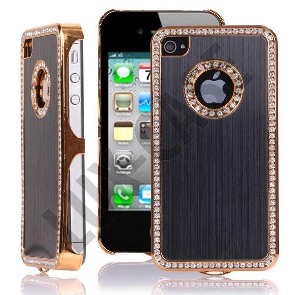 Jewel Golden Edge (Svart) iPhone 4/4S Deksel