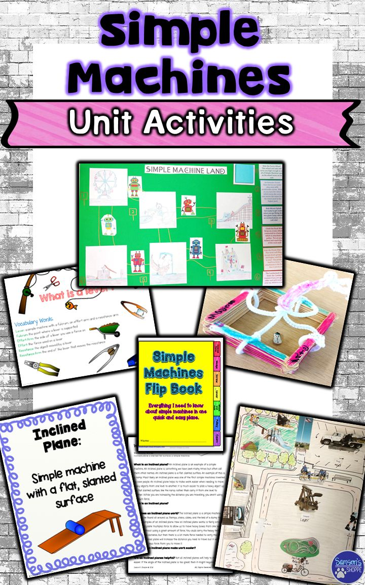 This Simple Machines Unit is great for your 5th, 6th, and 7th grade classroom and home school students. This bundle includes physical science resources, anchor chart posters, nonfiction packets, flip books, STEM activity, and create a park project. Students will learn about a lever, pulley, wheel & axle, inclined plane, wedge, and screw. Digital & hard copies provided. {fifth, sixth, seventh graders, middle school, upper elementary, information text, nonfiction, general science}