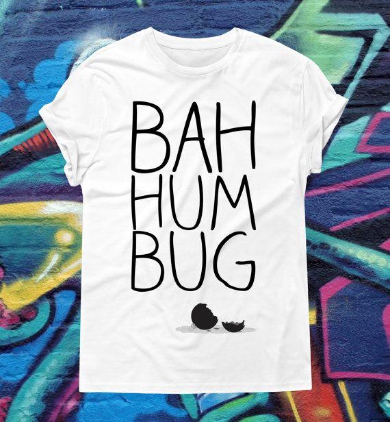 Bah Humbug Christmas T-Shirt Cranky Christmas by kitschklothing