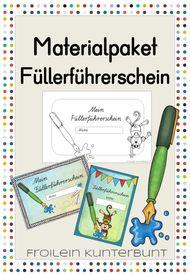 Materialpaket Füllerführerschein – Unterrichtsmaterial im Fach Deutsch