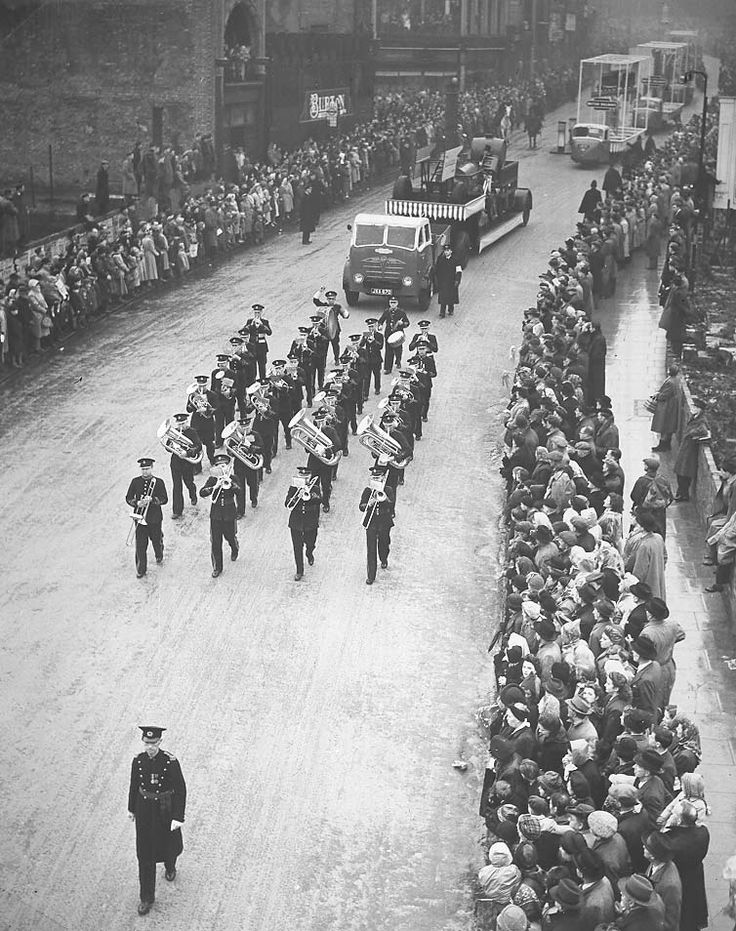 The Lord Mayor's parade November 8 1949 featuring the Shildon Works Band.